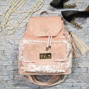Guess Pink Velvet Backpack!